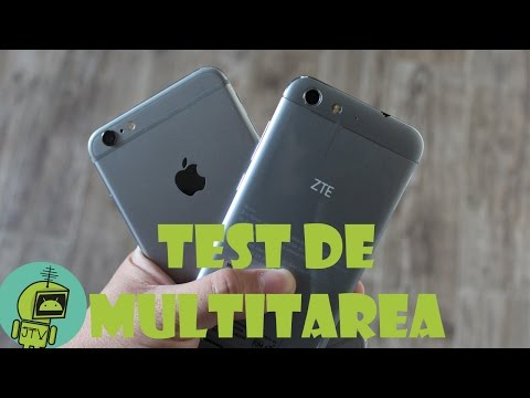 ZTE BLADE V6 VS iPHONE 6 PLUS / TEST DE MULTITAREA