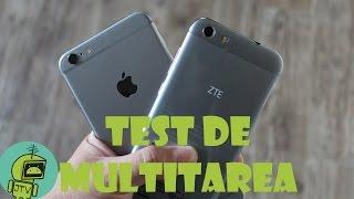 ZTE BLADE V6 VS iPHONE 6 PLUS / TEST DE MULTITAREA
