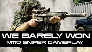 Airsoft Sniper DMR Gameplay Classic Army M110 Ballahack World Conflict
