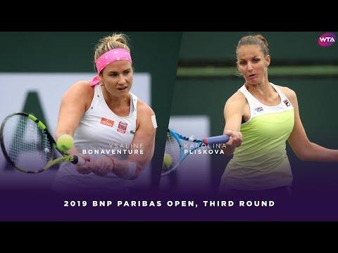 Ysaline Bonaventure vs. Karolina Pliskova | 2019 BNP Paribas Open Third Round | WTA Highlights
