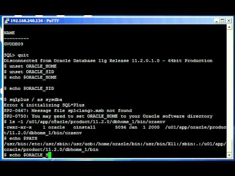 Oracle DBA Justin - How to set the Oracle environment on a Unix or Linux system