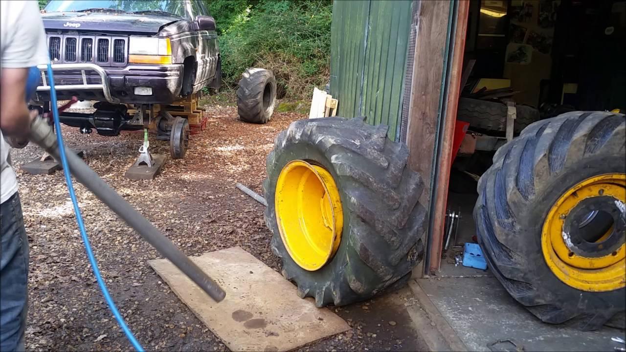 Homemade Tire Bead Seater Cheater Youtube