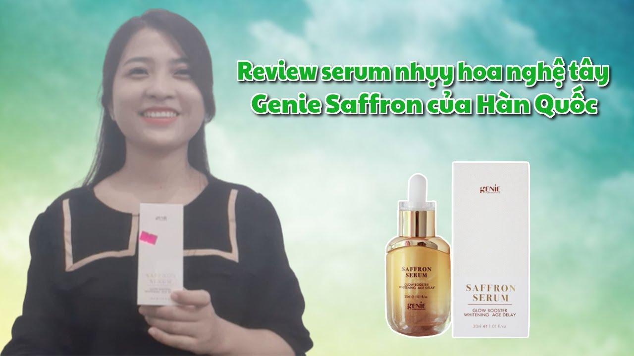 Review serum nhụy hoa nghệ tây Genie Saffron của Hàn Quốc