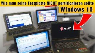 Wie man seine Festplatte NICHT partitionieren sollte bei Windows 10 - HDD oder SSD - [4K]