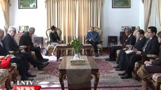 Lao NEWS on LNTV: Leaders meets UNESCO Special Envoy.20/11/2014
