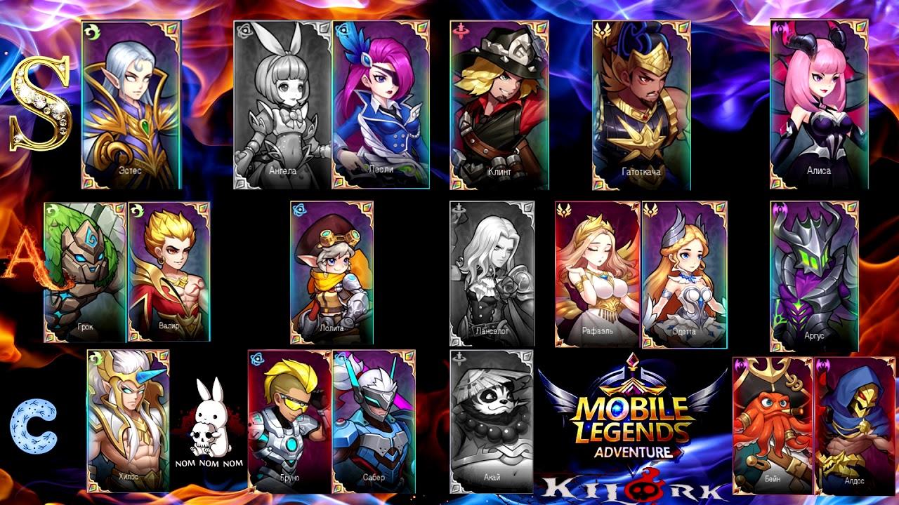 Mobile Legends: Adventure - Tier list (Список ТОП героев)