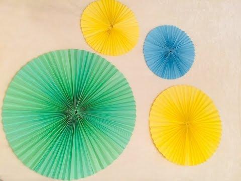 Как сделать бумажный веер на праздник
