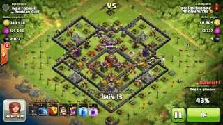 BM066 Balloons and Minions Strategy against champion level opponent - Clash of Clans CoC