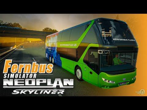 Fernbus Simulator - Neoplan Skyliner Realistic Gameplay | Thrustmaster T300RS |