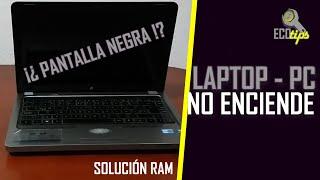 Mi laptop no enciende (Pantalla negra, Solución)