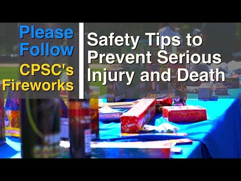 CPSC Fireworks Safety Demonstration 2017