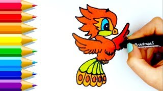 Cómo dibujar un ave fénix 💙