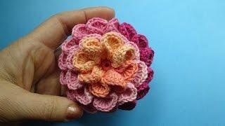 Crochet 3D Flower Pattern Вязаный Цветок