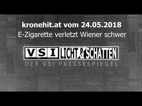 Ist in Wien eine E-Zigarette in der Hose explodiert?