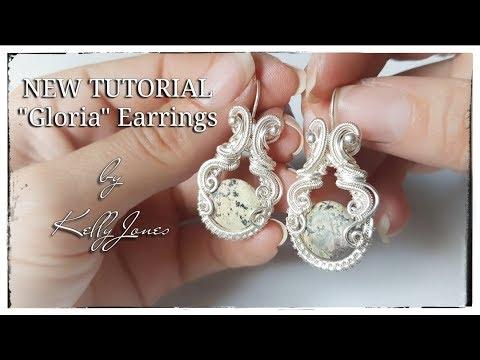 """Wire Wrap Earrings Tutorial """"Gloria""""."""