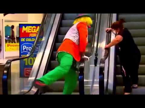 Clown Escalator Cake Prank