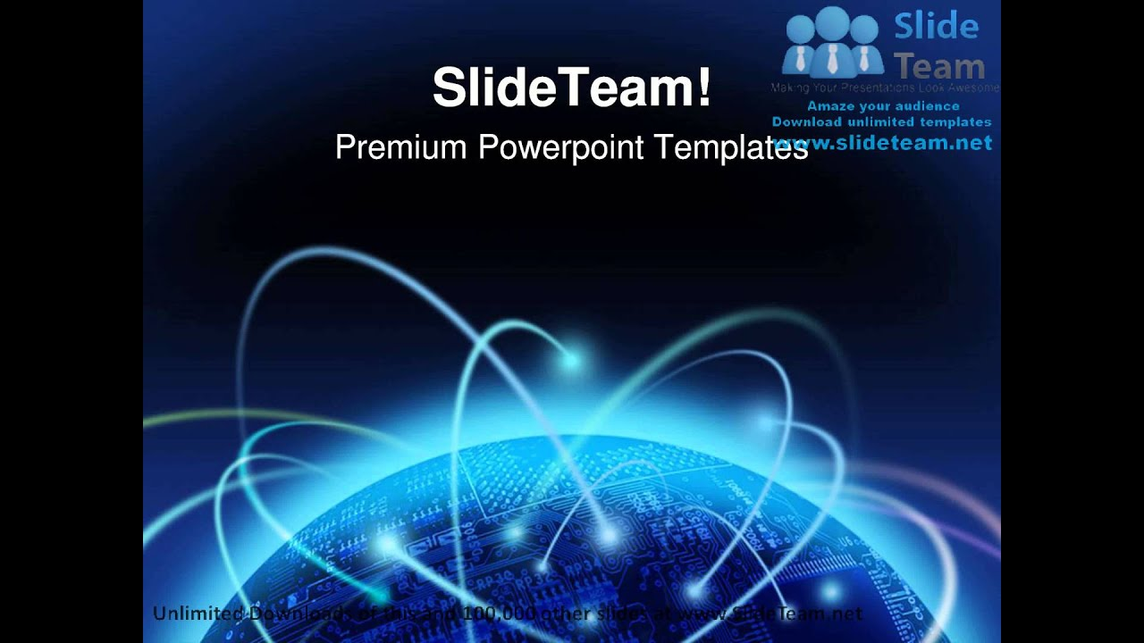 global information technology powerpoint templates themes and, Modern powerpoint