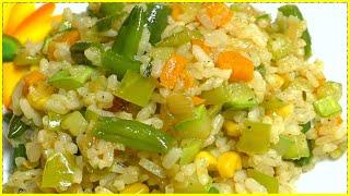 Очень вкусный Рис с овощами//Как вкусно приготовить рис//Праздничный рис//Вегетарианский плов