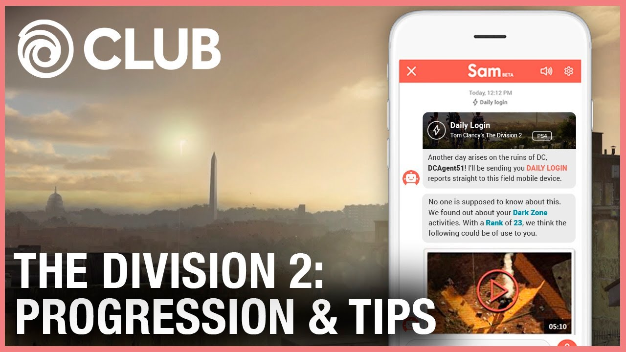 Ubisoft Club Daily Login In Game Progression And Tips For The Division 2 Ubisoft Na Youtube