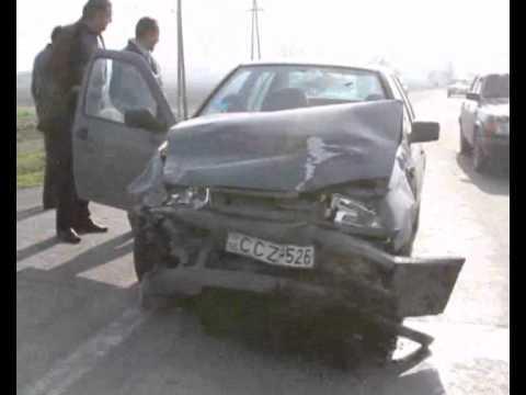 Two-car Collision On Yerevan-Armavir Highway, Armenia, April 14 2011