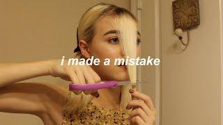 i cut my own bangs? fail