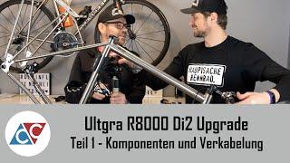 Ultegra R8000 Di2 Upgrade Vorstellung der Komponenten, testweise Verkabelung