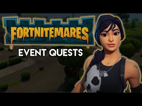 FORTNITE CASTLES and CRYPTS! - Fortnitemares Event Quests with Legendary Soldier Hero