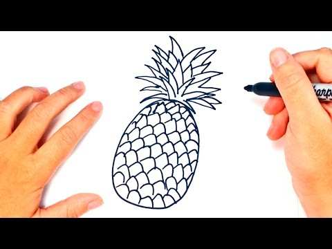 How to draw a Pineapple | Pineapple Easy Draw Tutorial
