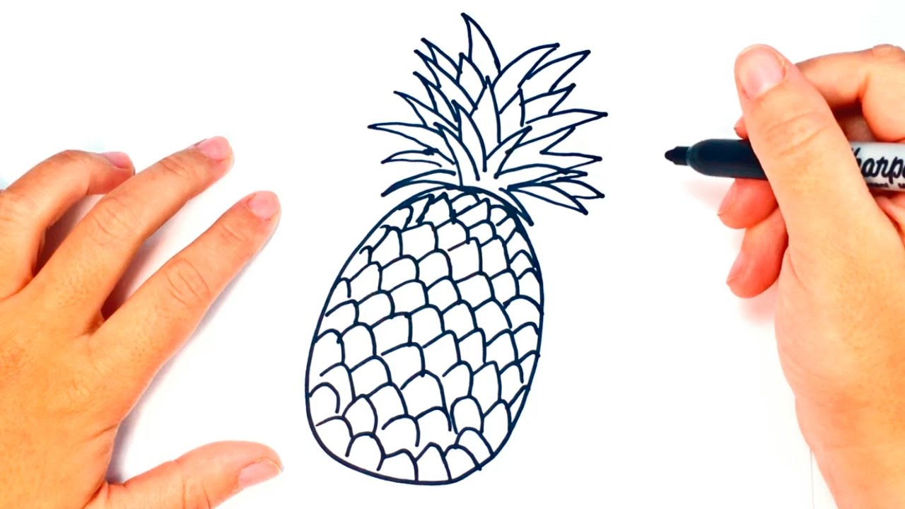 How To Draw A Pineapple Pineapple Easy Draw Tutorial Youtube