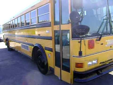 Air Conditioned Flat Nose 1998 Thomas Rear Engine School Bus B56405
