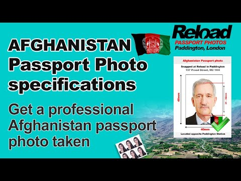 Afghanistan Passport Photo and Visa Photo snapped in Paddington, London