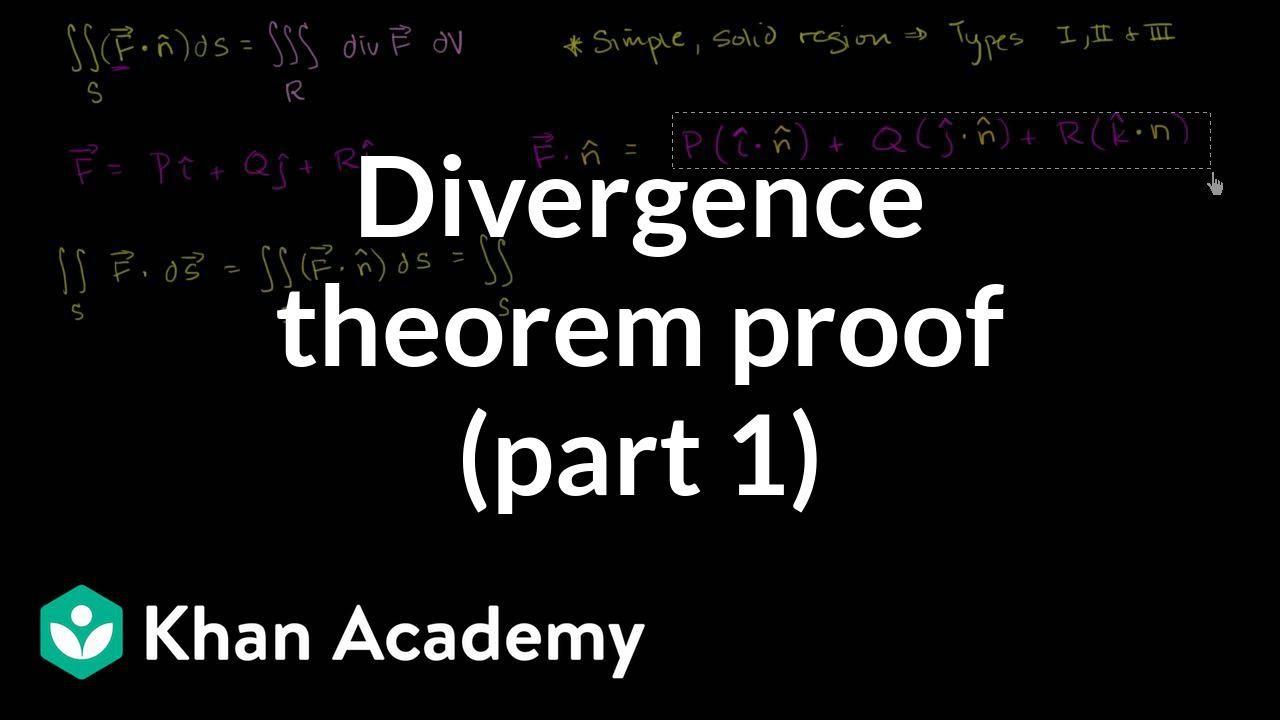 Divergence theorem proof (part 1) (video) | Khan Academy