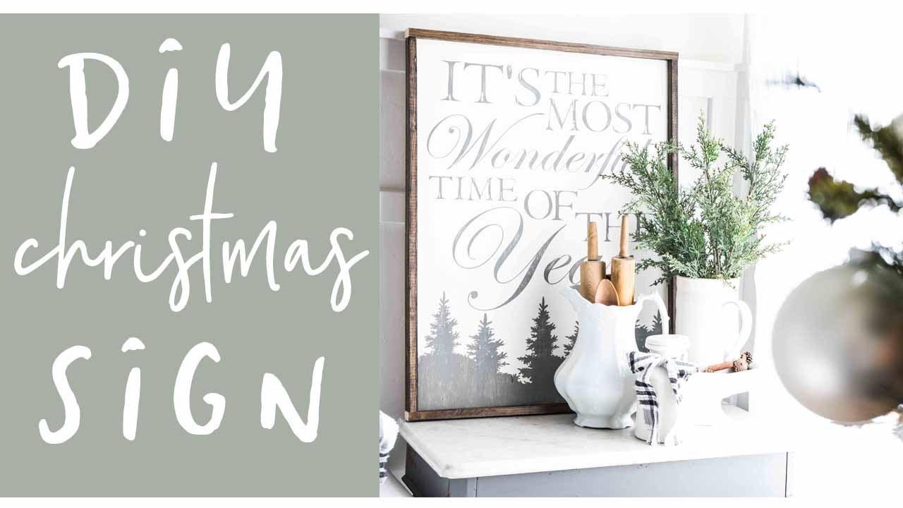 how to make a farmhouse christmas sign - A Farmhouse Christmas