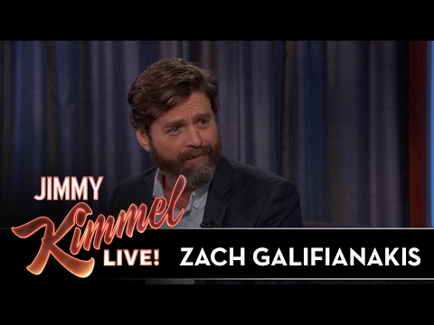 Zach Galifianakis Impressed That Jimmy Kimmel Kicked Audience Member Out