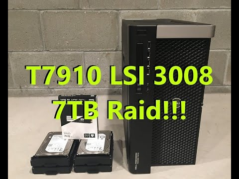 How to Configure Raid with a LSI 3008 Controller + NVME Boot Device  (Precision T7910)