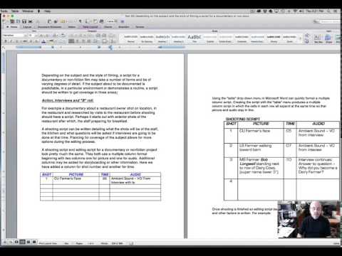 How to Write and Format a Documentary or Nonfiction Shooting or ...