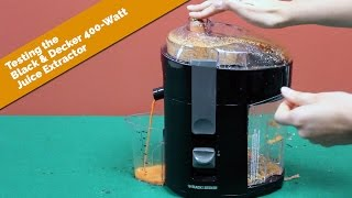 Testing the Black & Decker 400-Watt Juice Extractor