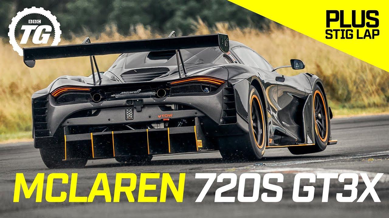McLaren 720S GT3X review | A crazy 750bhp no limits GT3 racer that can't race + Stig Lap | Top Gear