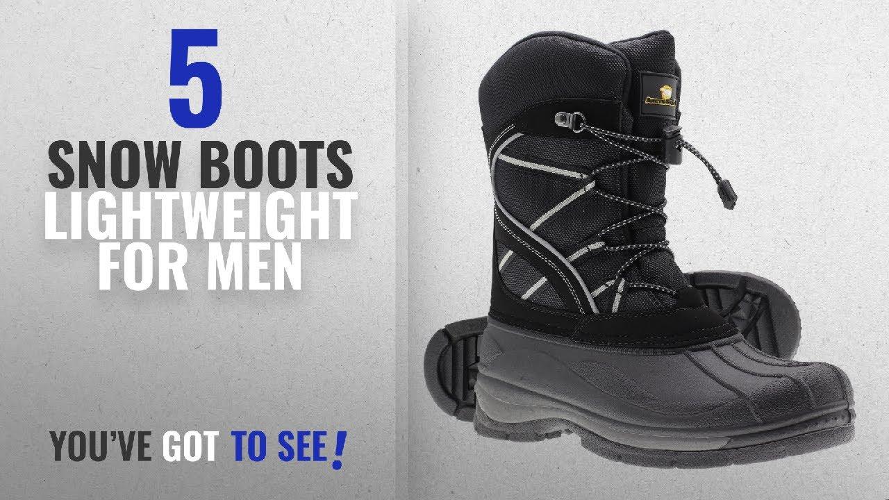 835966b092b45 Top 10 Snow Boots Lightweight [ Winter 2018 ]: Arctic Shield Mens Warm  Comfortable Waterproof