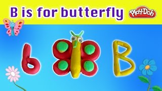 How fast can you make this butterfly? | Kids alphabet learning video | Play doh