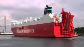 TYSLA RoRo Ship arriving in Savannah GA - 7/30/2012