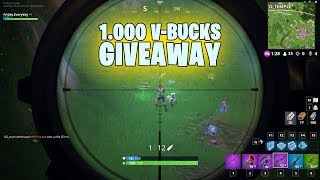 Fortnite game play and a little giveaway.