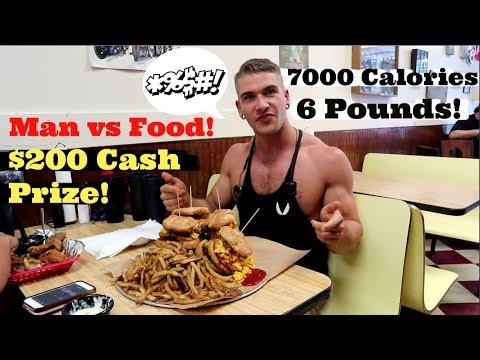 $200 MASSIVE BBQ Burger Challenge! Man Vs Food - Myrtle Beach SC