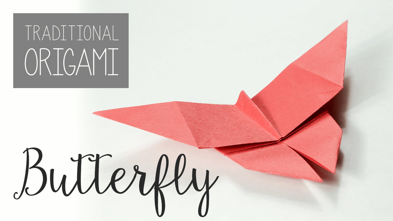 Papercraft Traditional Origami Butterfly Tutorial