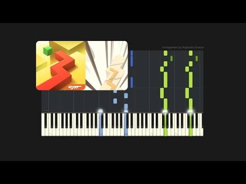 Dancing Line - The Piano // Custom Arrangement (Synthesia Tutorial + MIDI + PDF)
