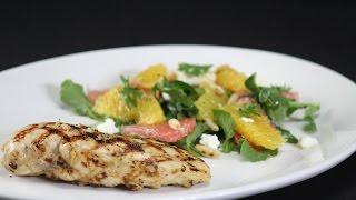 Smoked Chicken With Citrus Salad  Sanjeev Kapoor Khazana
