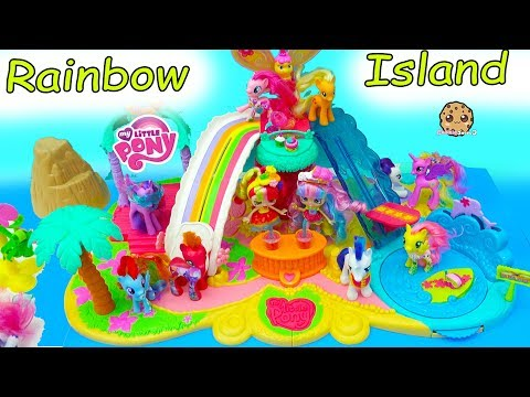 My Little Pony Rainbow Island Vacation - MLP + Shopkins Shoppies Toy Video