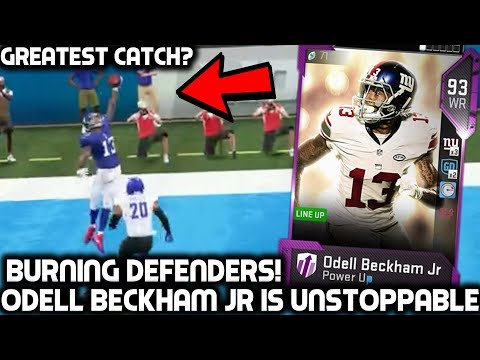 OBJ CATCH YOU MUST SEE! ODELL BECKHAM JR DOMINATES! Madden 19 Ultimate Team