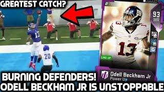 OBJ CATCH YOU MUST SEE! ODELL BECKHAM JR DOMINATES! Madden 19 Ultimate Team