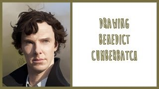 Drawing Benedict Cumberbatch as Sherlock Holmes